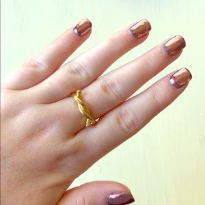 Golden Love Knot Ring by Vanessa Mooney